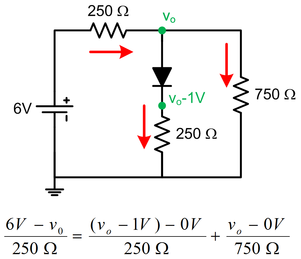 26 analyzing diode circuits electronic circuits diodenodeanalysis figure 217 solving a diode circuit pooptronica Gallery